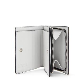 LOEWE Brand Compact Zip Wallet Black/Kaolin front