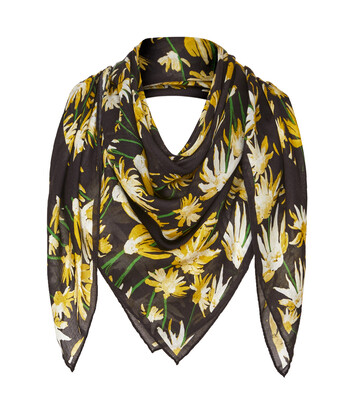 LOEWE 140X140 Scarf Daisy Yellow/Black front