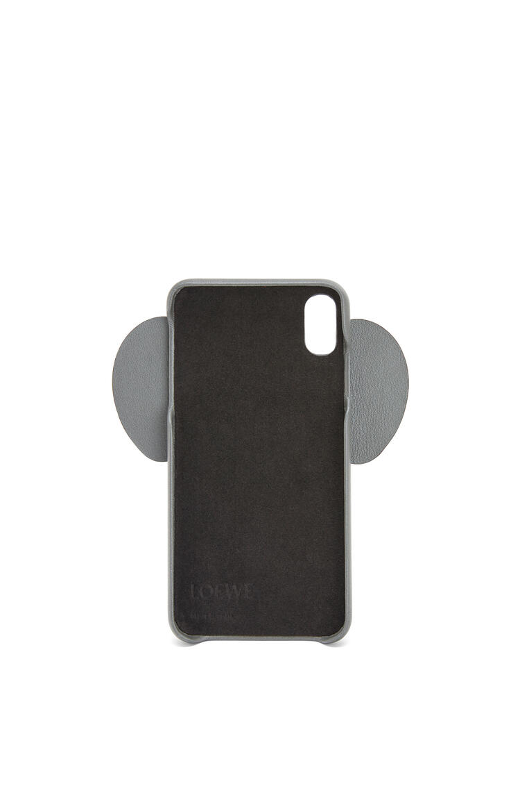 LOEWE Elephant cover for iPhone XS Max in pearlized calfskin Gunmetal pdp_rd