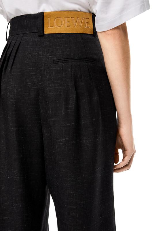 LOEWE Balloon Trousers Black front