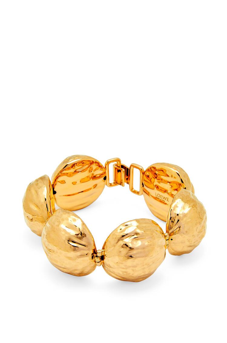 LOEWE Thin bracelet in hammered metal Gold pdp_rd