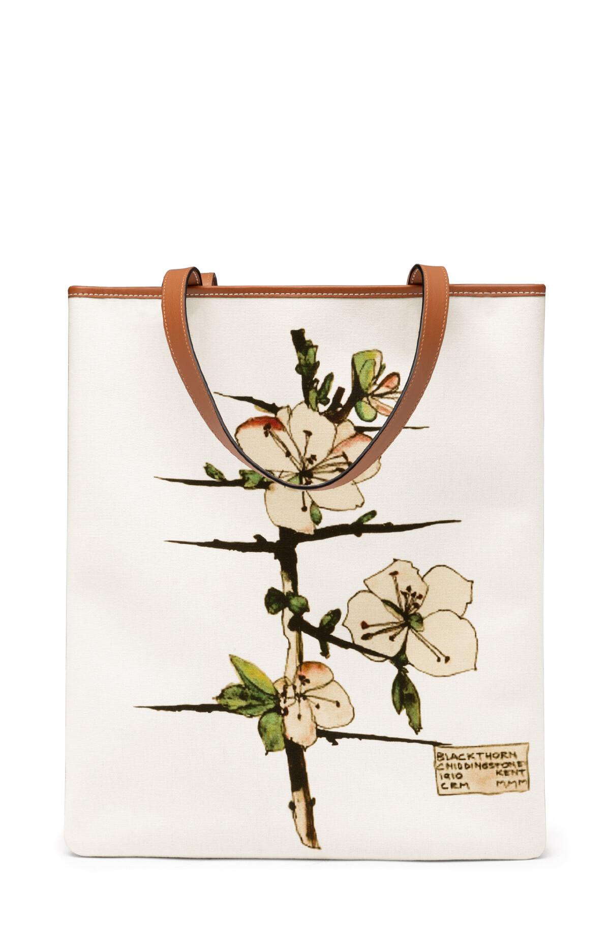 LOEWE Vertical Tote Blackthorn Bag Soft White/Tan front