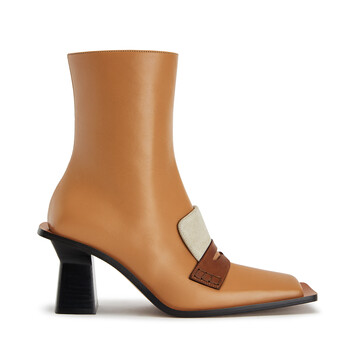 LOEWE Square Boot 80 Desert front