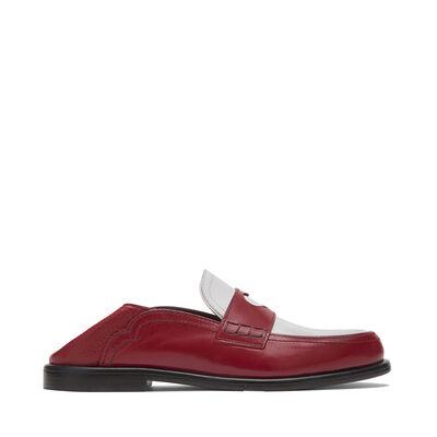 LOEWE Slip On Loafer Heart Red/White front