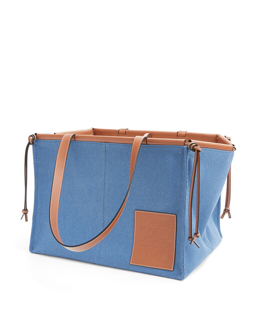 LOEWE Cushion Tote Large Steel Blue front