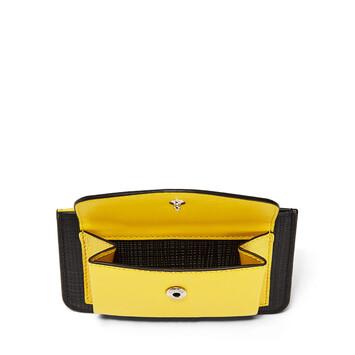 LOEWE Pocket/Card Holder Black/Yellow front