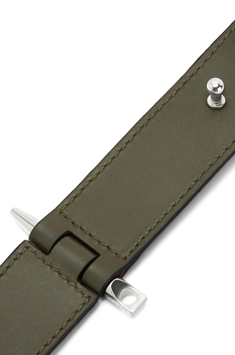 LOEWE Gate Bracelet In Calfskin Khaki Green pdp_rd