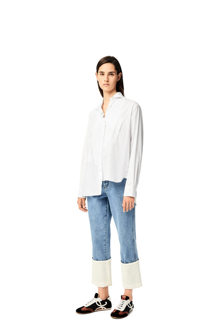 LOEWE Asymmetric shirt in cotton White pdp_rd