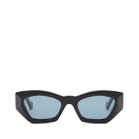 LOEWE Geometric Cateye Sunglasses Black/Blue front