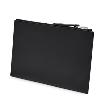 LOEWE Pouch Plana Brand Negro front
