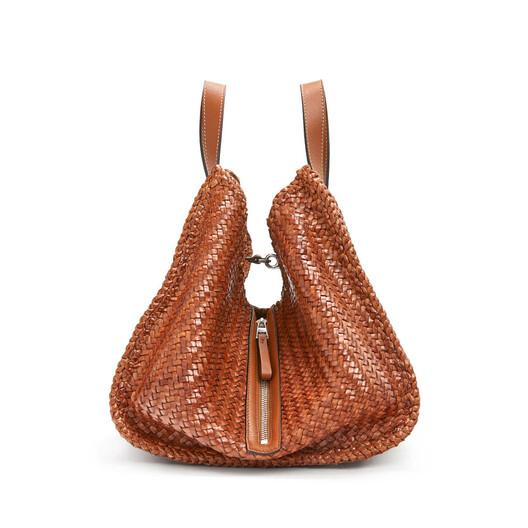 LOEWE Hammock Woven Medium Bag Tan front
