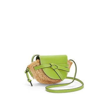 LOEWE Gate Mini Bag Green/Natural front