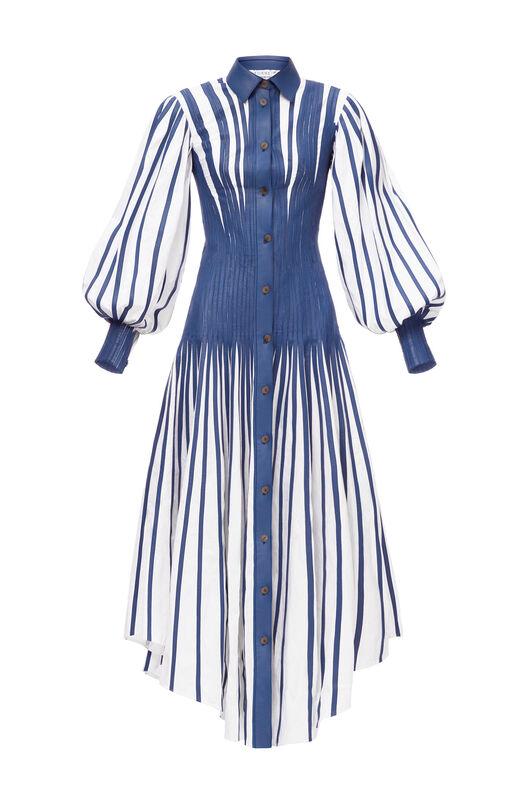 LOEWE シャツドレス white/blue all