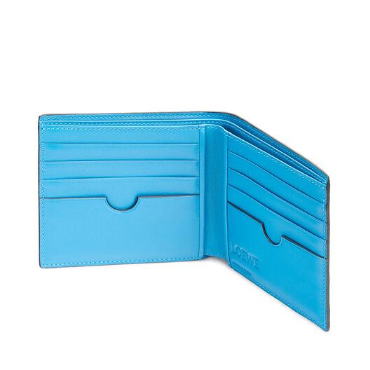 LOEWE メイズバイフォルドウォレット Midnight Blue/Fluo Blue front