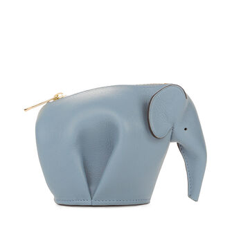 LOEWE Elephant Coin Purse 灰蓝色 front