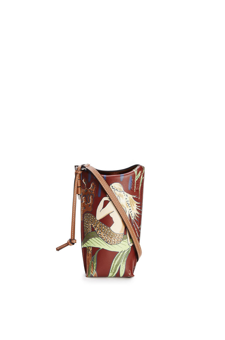 LOEWE Gate Pocket In Mermaid Classic Calfskin Burgundy/Marine pdp_rd