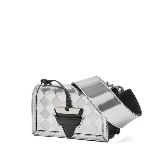 LOEWE Barcelona Checks Small Bag Silver/Black front