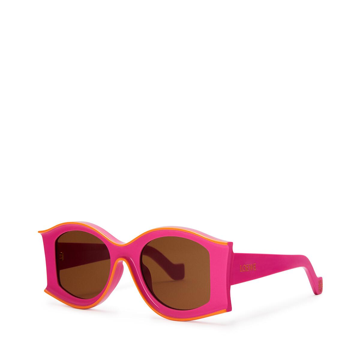 LOEWE Large Pula's Ibiza Sunglasses In Acetate Neon Pink/Neon Orange front