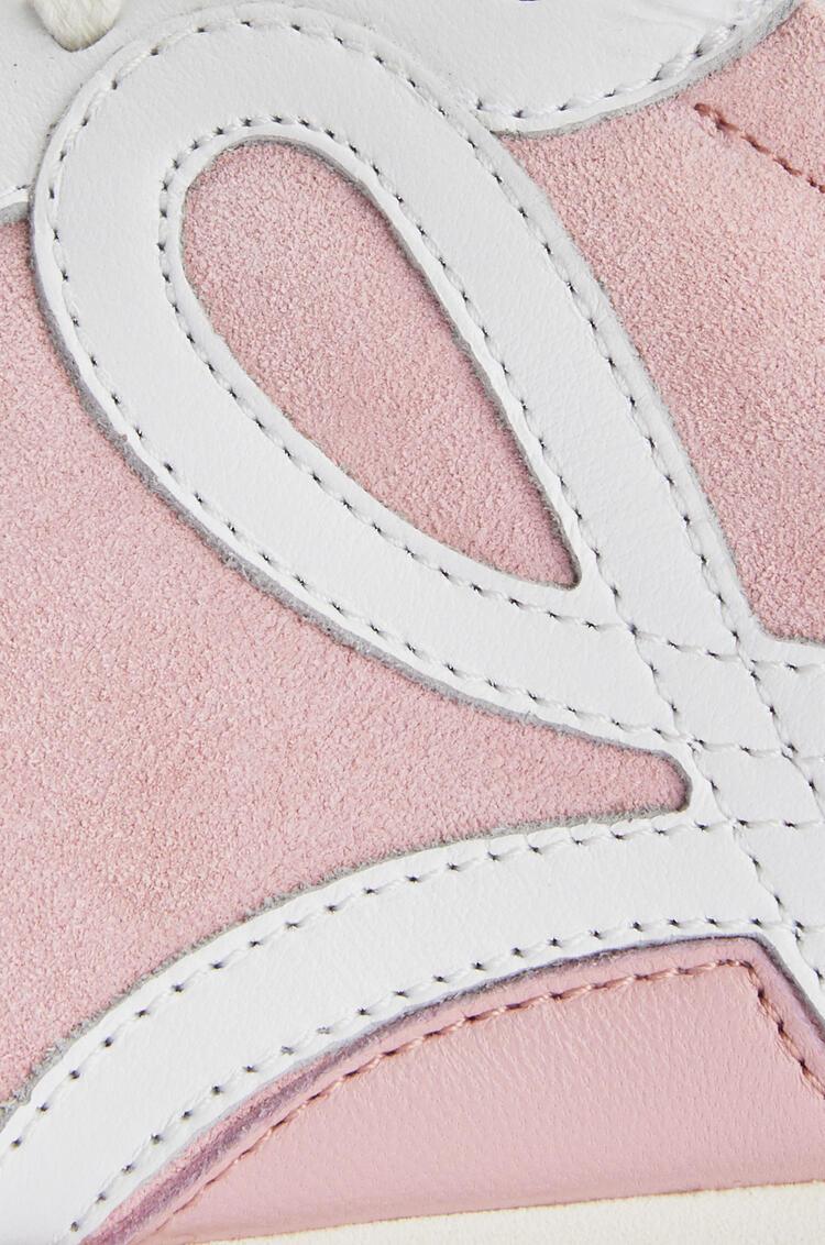LOEWE Ballet runner in calfskin Pink/White pdp_rd