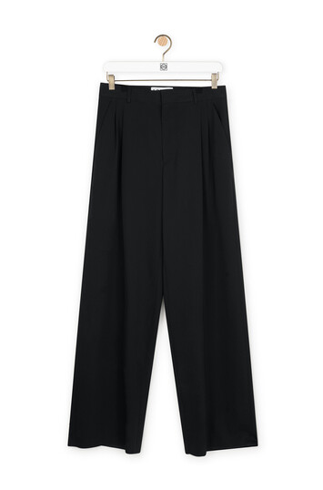 LOEWE Pleated Trousers Black front
