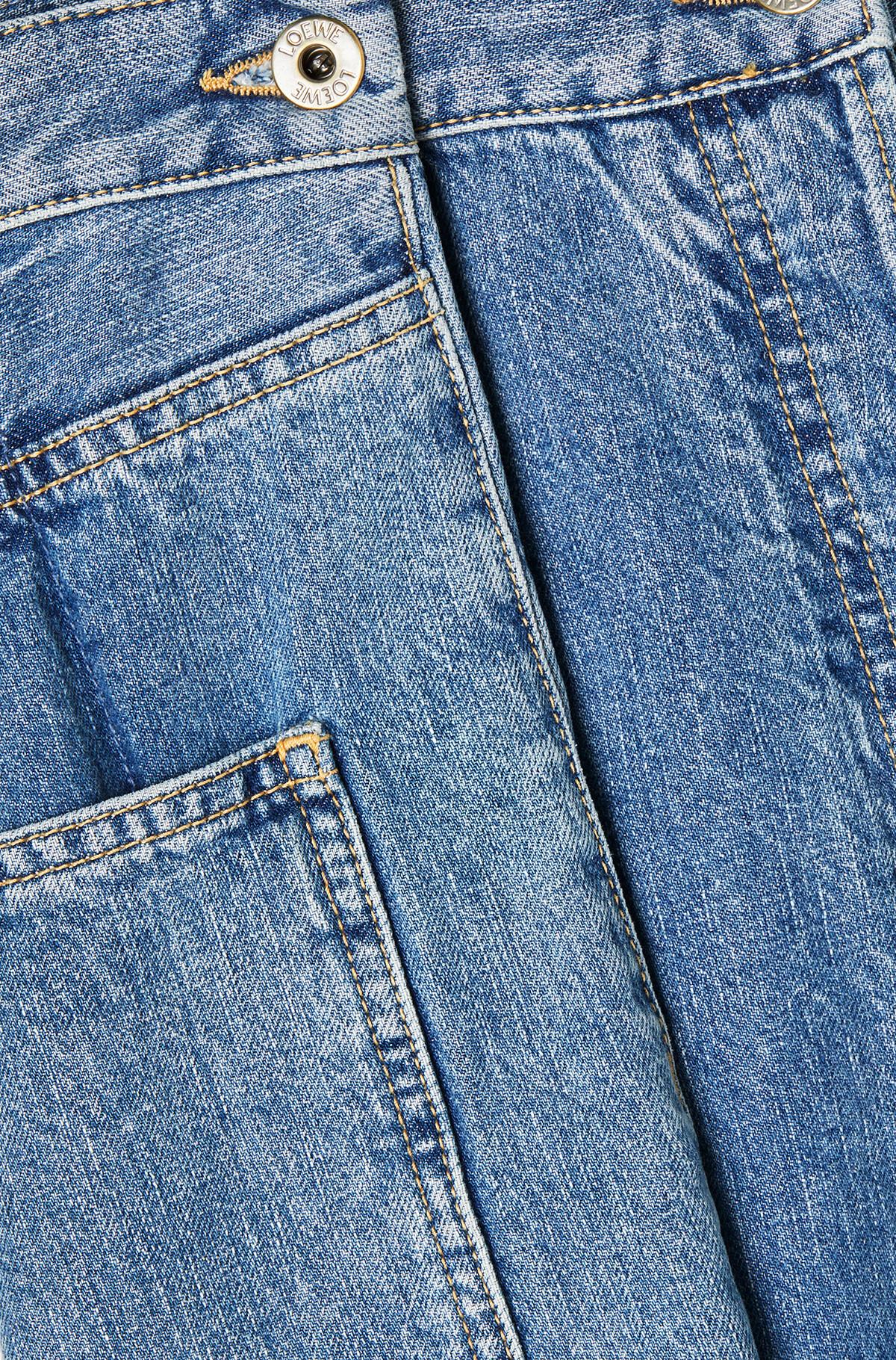 LOEWE Cropped Oversize Jeans Indigo front