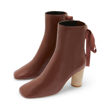 LOEWE Ankle Boot 80 Burgundy front