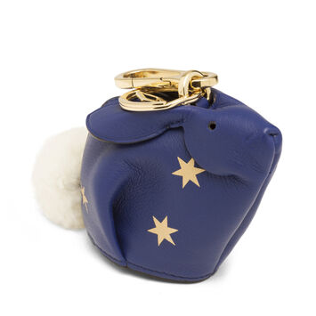 LOEWE Bunny Stars Charm Royal Blue/Gold front