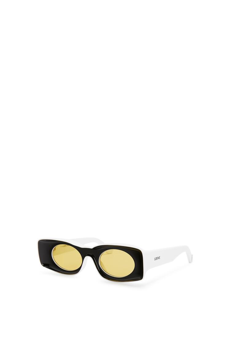 LOEWE パウラズ オリジナル サングラス (アセテート) ブラック/ホワイト pdp_rd