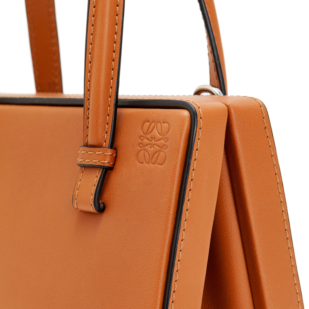 LOEWE Postal Small Bag Tan front