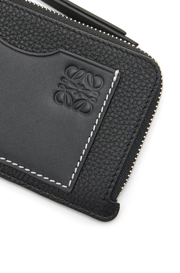 LOEWE Coin Cardholder In Soft Grained Calfskin Black pdp_rd