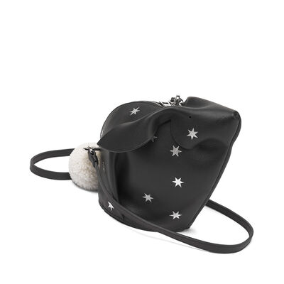 LOEWE Mini Bolso Conejo Estrellas Negro/Plata front