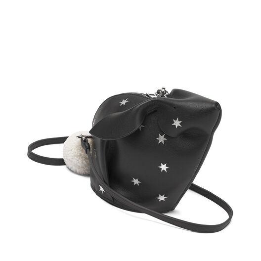 LOEWE Mini Bolso Conejo Estrellas Negro/Plata all