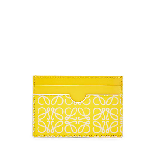 LOEWE Plain Card Holder Yellow/White all