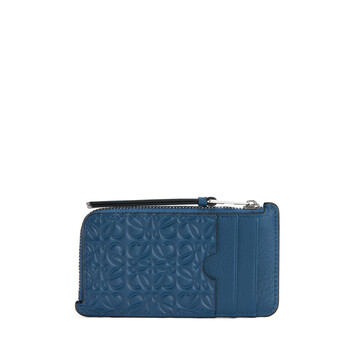 LOEWE Puzzle Coin Cardholder Indigo front