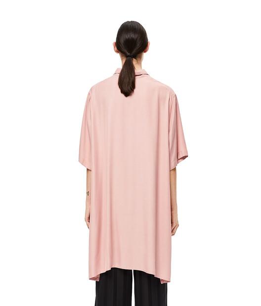 LOEWE Oversize Short Sleeve Shirt Rosa Claro front