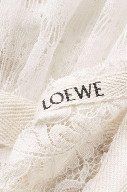 LOEWE Lace Camisole Dress Crudo all