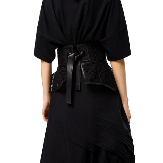 LOEWE Obi Belt Lace Black front