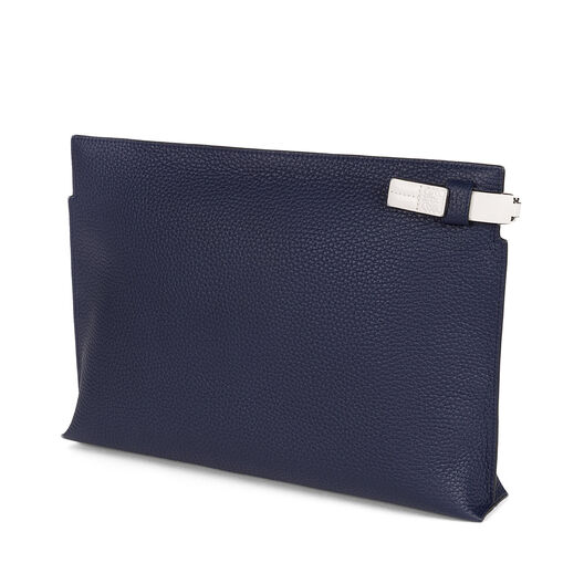 LOEWE T Pouch Intarsio Stars Navy/White all