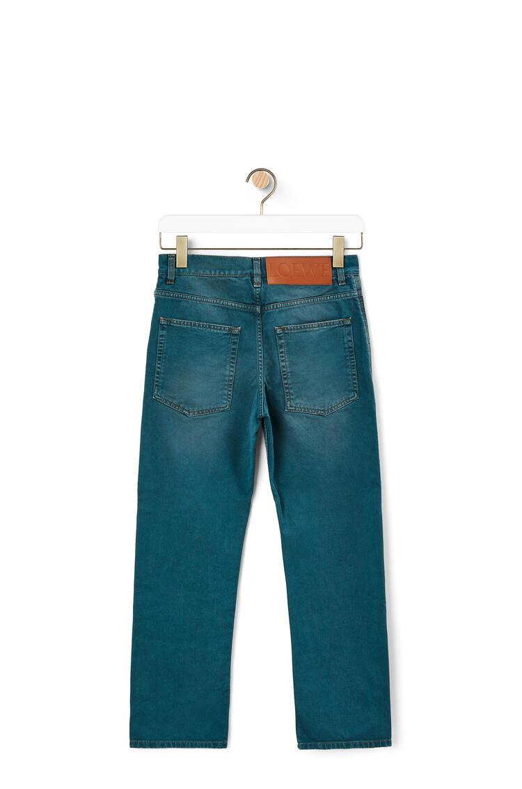 LOEWE Slim leg jeans in cotton Petroleum pdp_rd