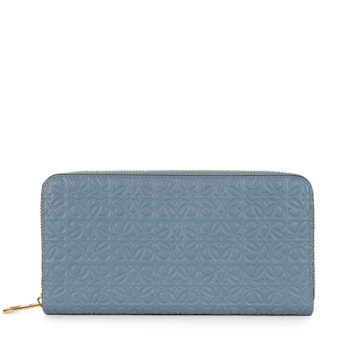 LOEWE Zip Around Wallet Stone Blue all