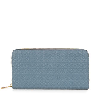 LOEWE Repeat Zip Around Wallet Stone Blue front