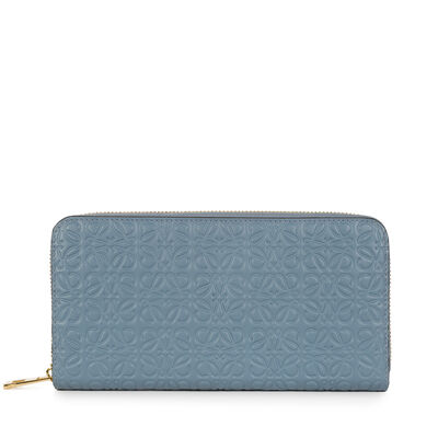 LOEWE Zip Around Wallet Stone Blue front