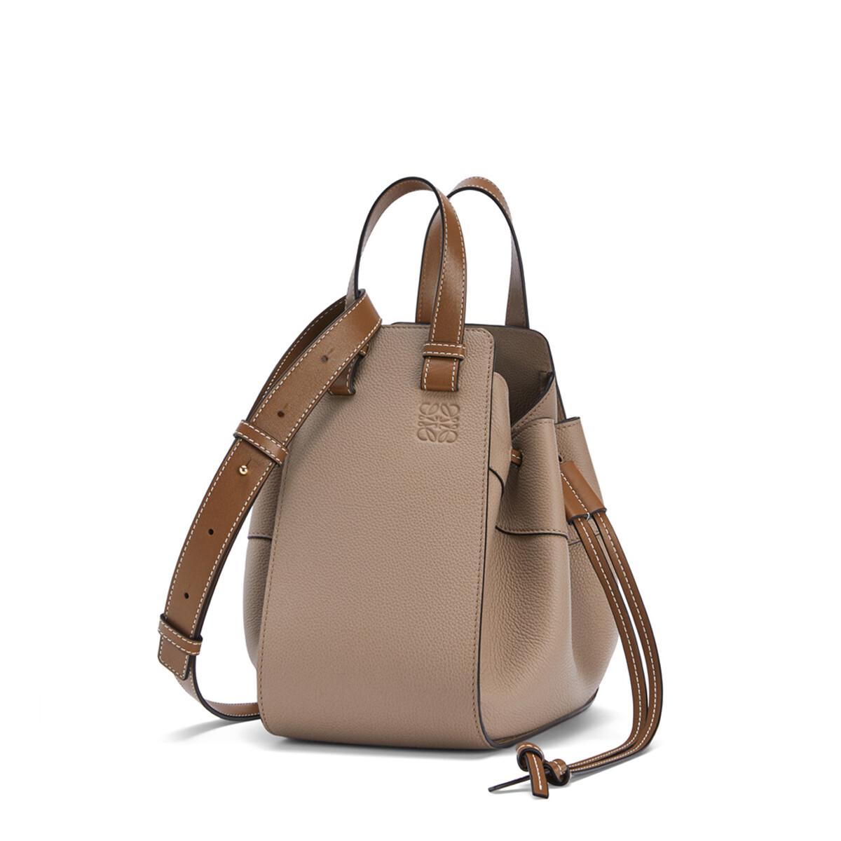 LOEWE Hammock Drawstring Small Bag Sand/Mink Color front