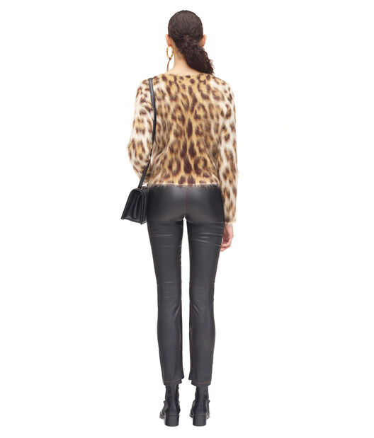 LOEWE Leopard Mohair Sweater Beige Claro/Multicolor all