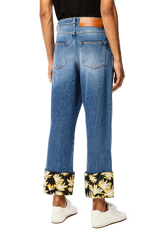 LOEWE Fisherman Jeans Daisy Turn Up ブルー front