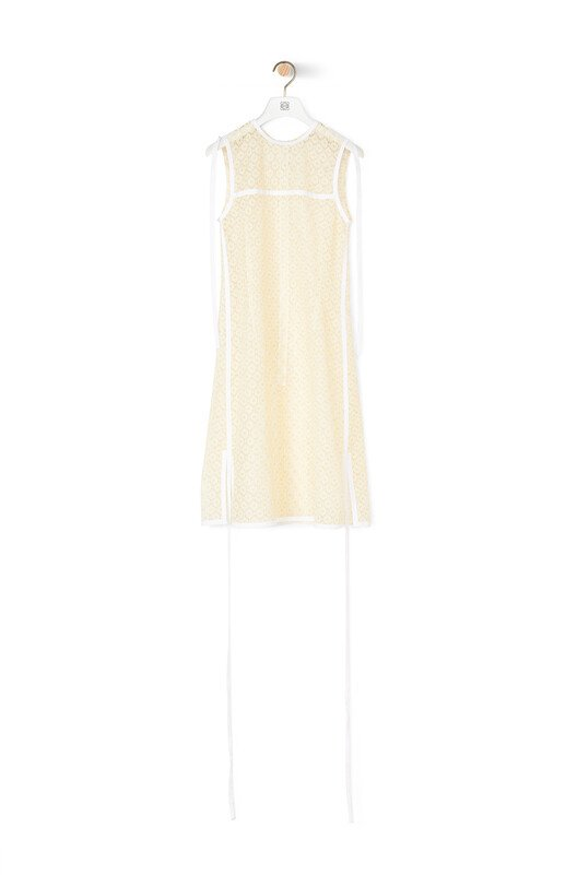 LOEWE Sleeveless Lace Top Yellow front