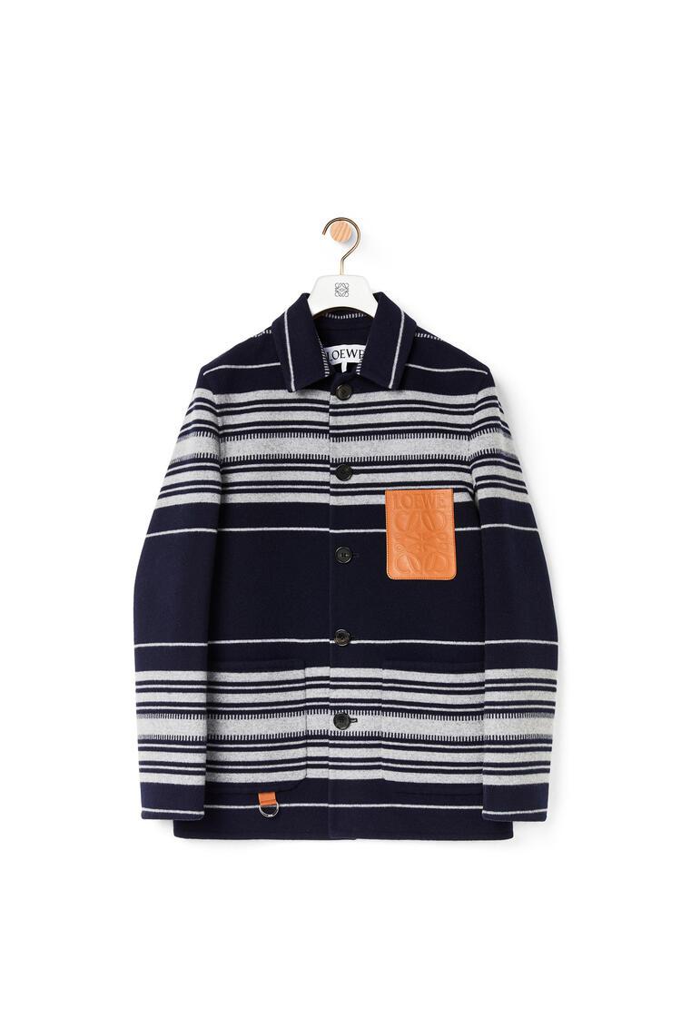 LOEWE Stripe Workwear Jacket Navy Blue pdp_rd