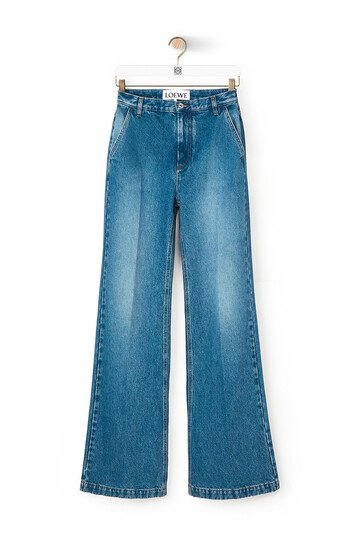 LOEWE Flare Denim Trousers Washed Denim front