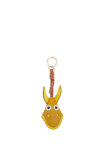 LOEWE Dragon Key Charm In Calfskin Ochre pdp_rd