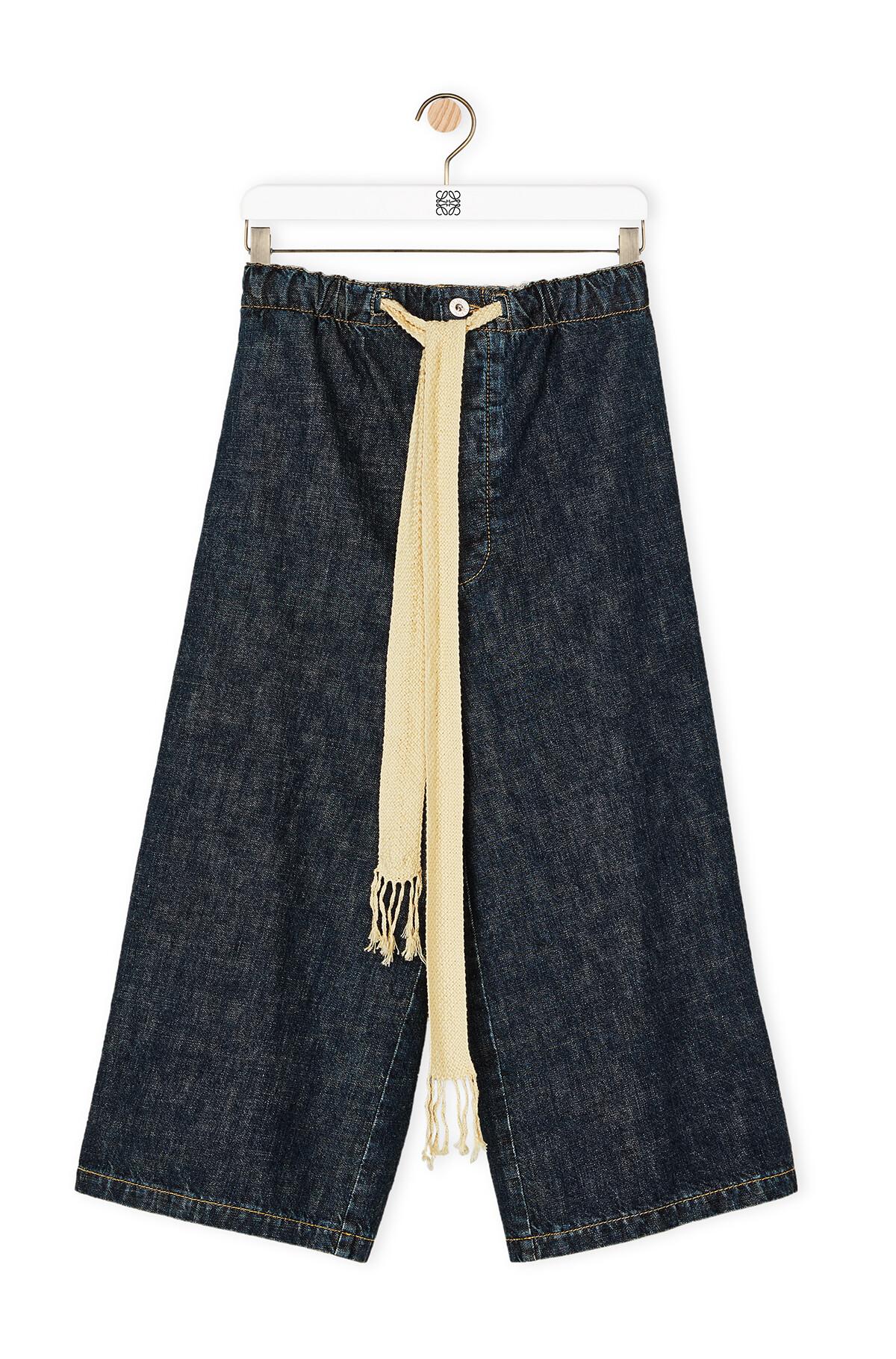 LOEWE Drawstring Denim Shorts Indigo front